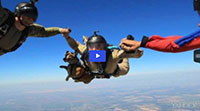 Dachshund Takes Part in Skydive