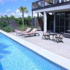 Cape San Blas dog friendly beach rental heated saline lap pool