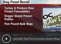 Specialty Dog Food Company Issues Recall