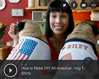 How to Make DIY All-American Dog T-Shirts for the 4th