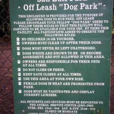 San Luis Dog Park in Tallahassee FL