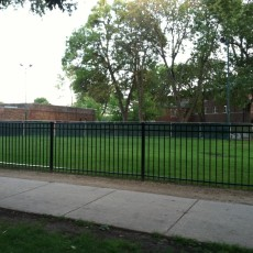 Portage Park Dog Park in Chicago, IL
