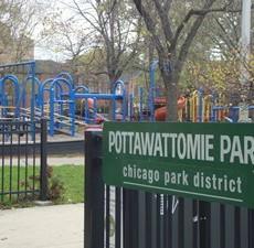 Pottawattomie Park Dog Park in Chicago IL