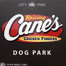 Raising Cane's Dog Park at Forest Community Park