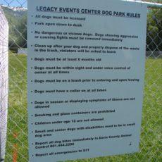 Legacy Dog Park in Farmington, UT