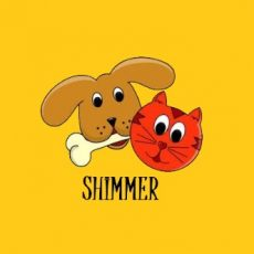 Cat and Dog - Shimmer PC CUSTOM logo with white border